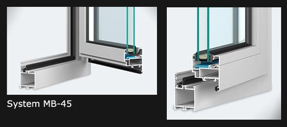 Okna aluminiowe - System okienny MB-45